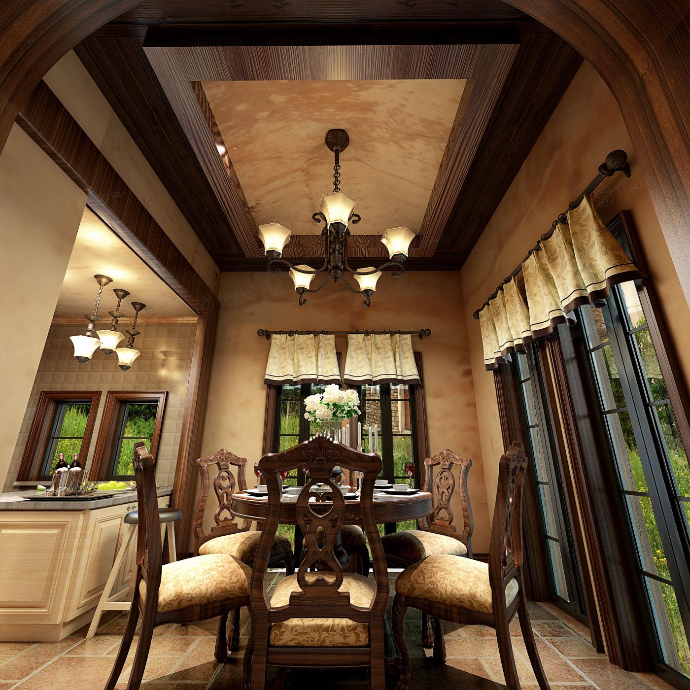 同润圣塔路斯 异域风情装修餐厅效果图