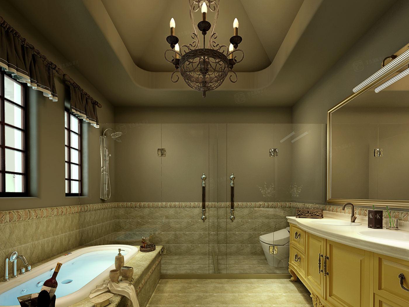同润圣塔路斯 异域风情装修卫生间效果图