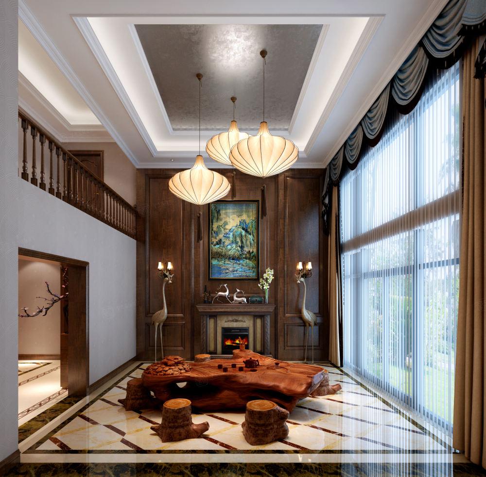 美式装修客厅效果图