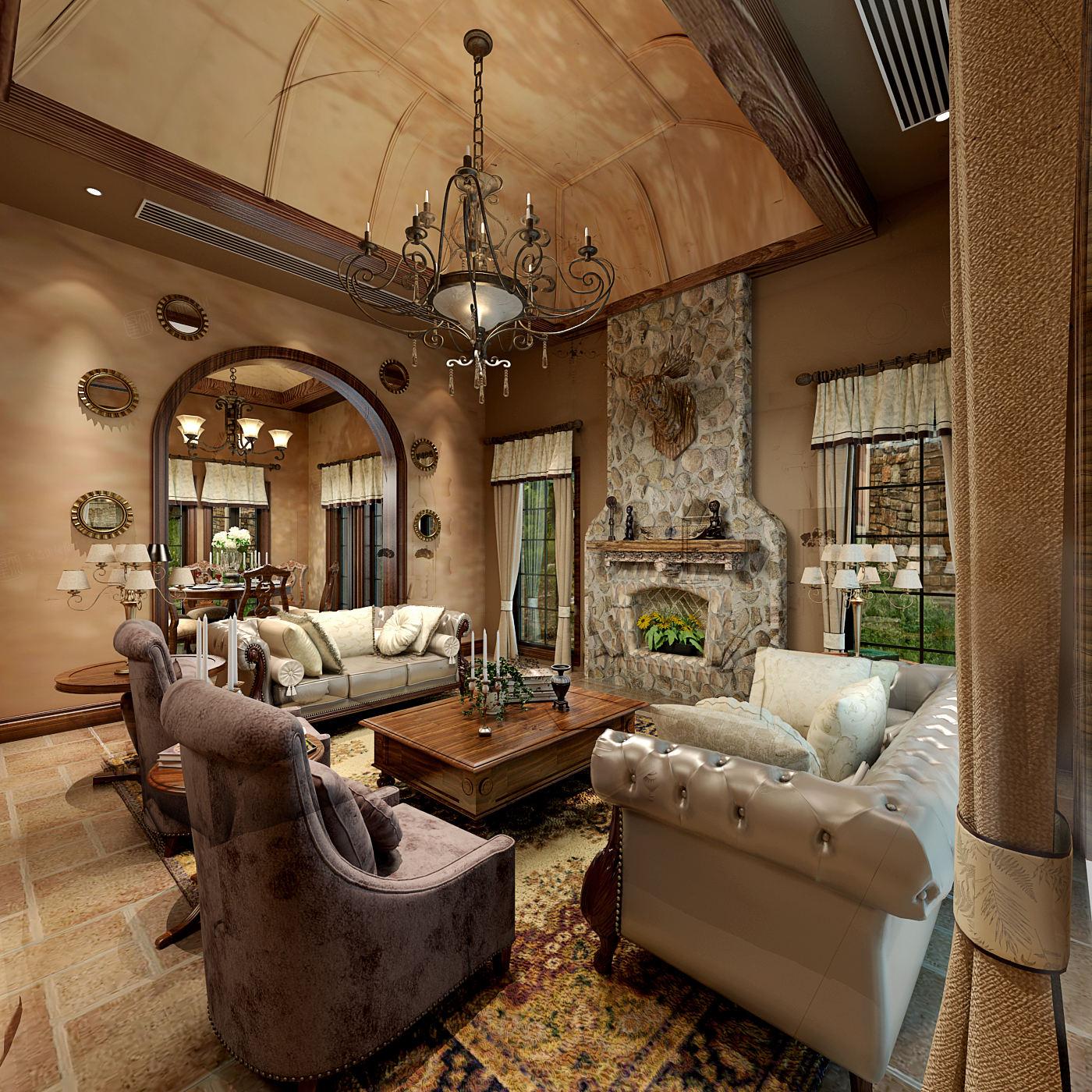 同润圣塔路斯 异域风情装修客厅效果图