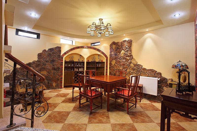 保利叶上海实景 西班牙风格装修茶室效果图