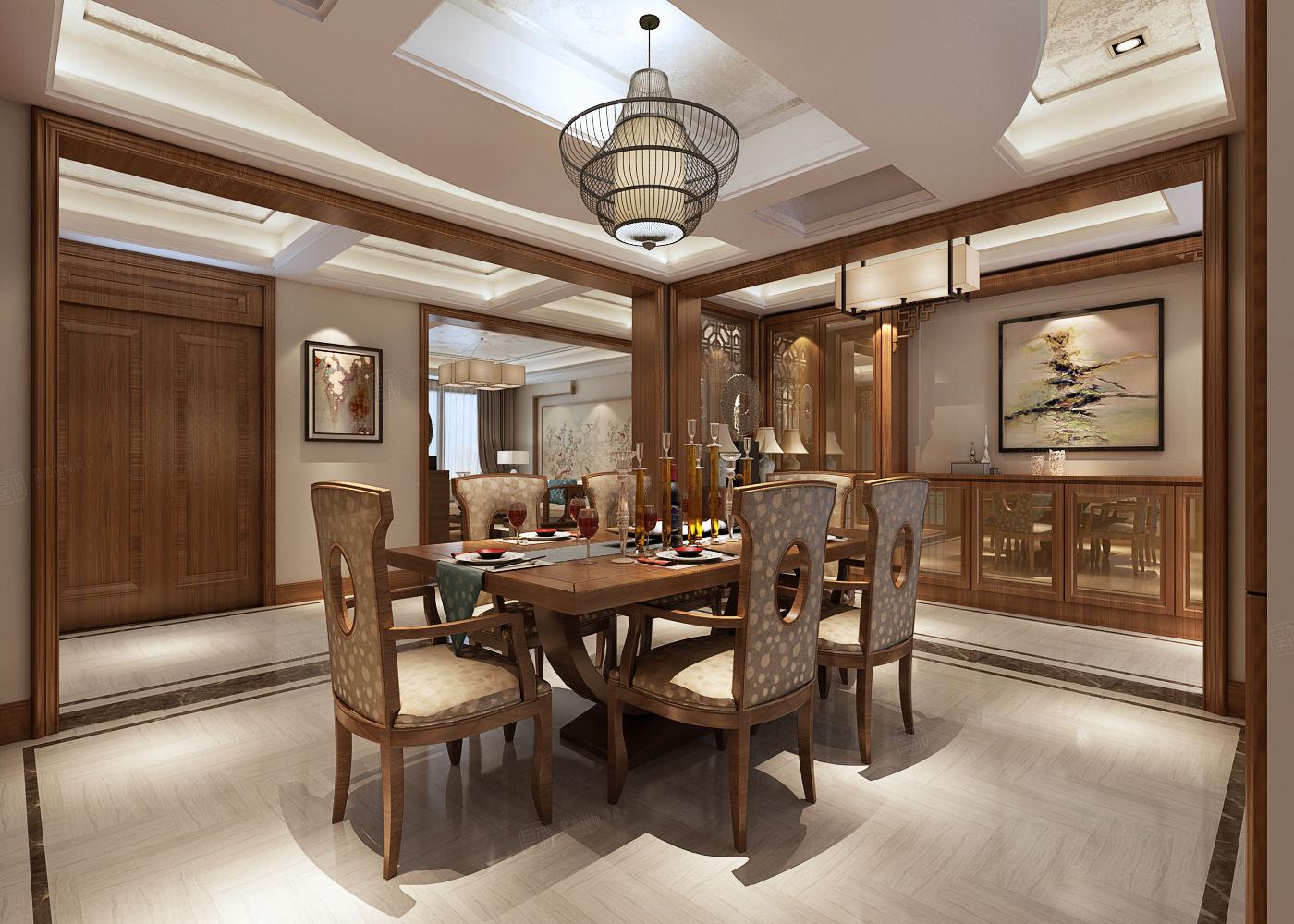 金地未未来 中式装修餐厅效果图
