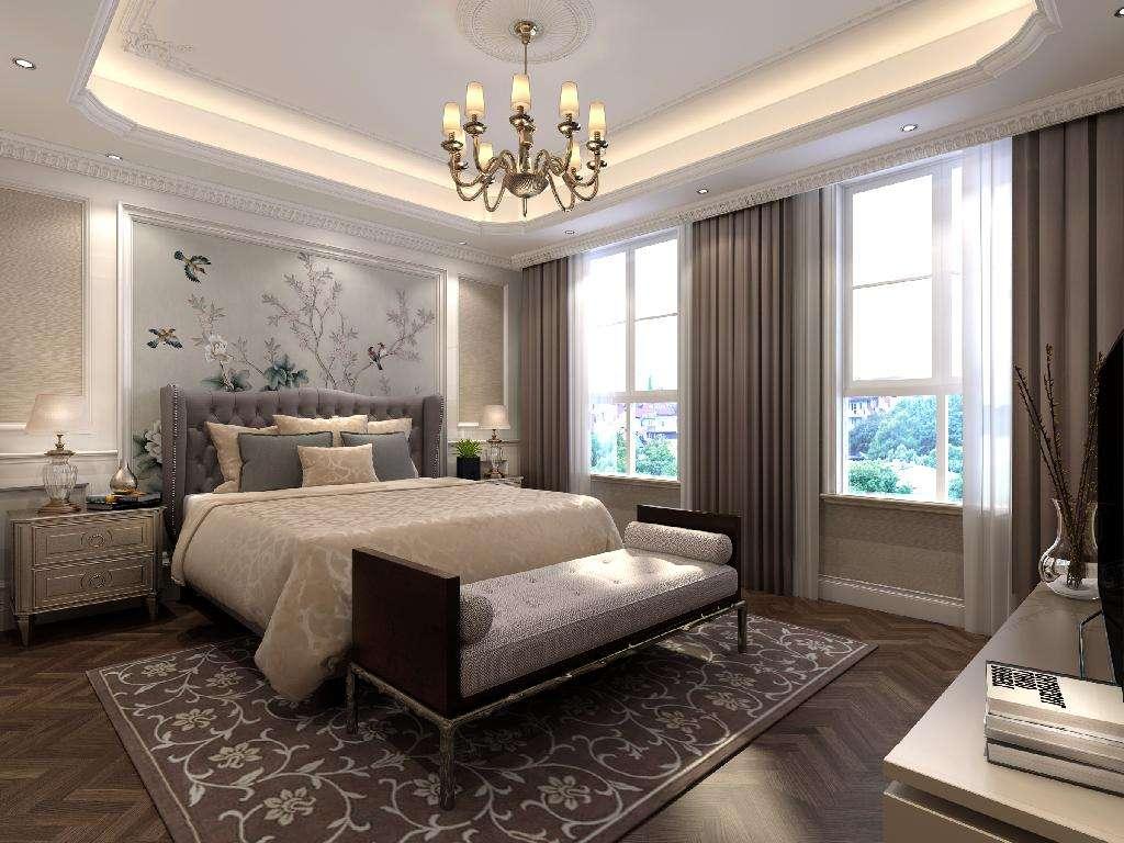 英庭名墅 欧式装修卧室效果图