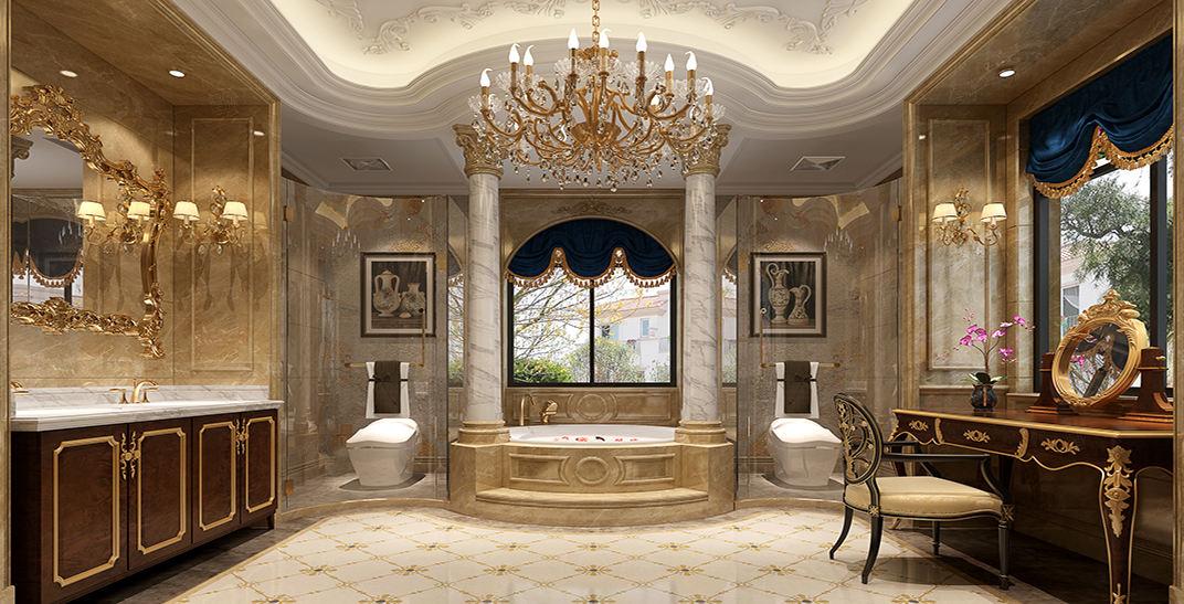浪漫法式-不能遗忘的经典装修卫生间效果图