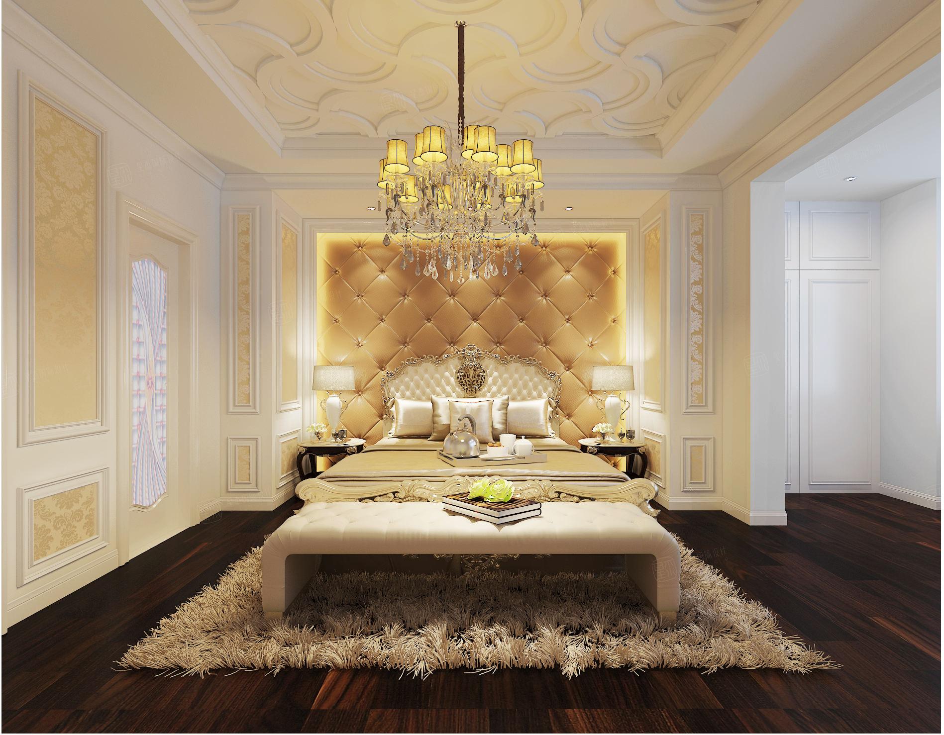 天籁园 新古典装修卧室效果图