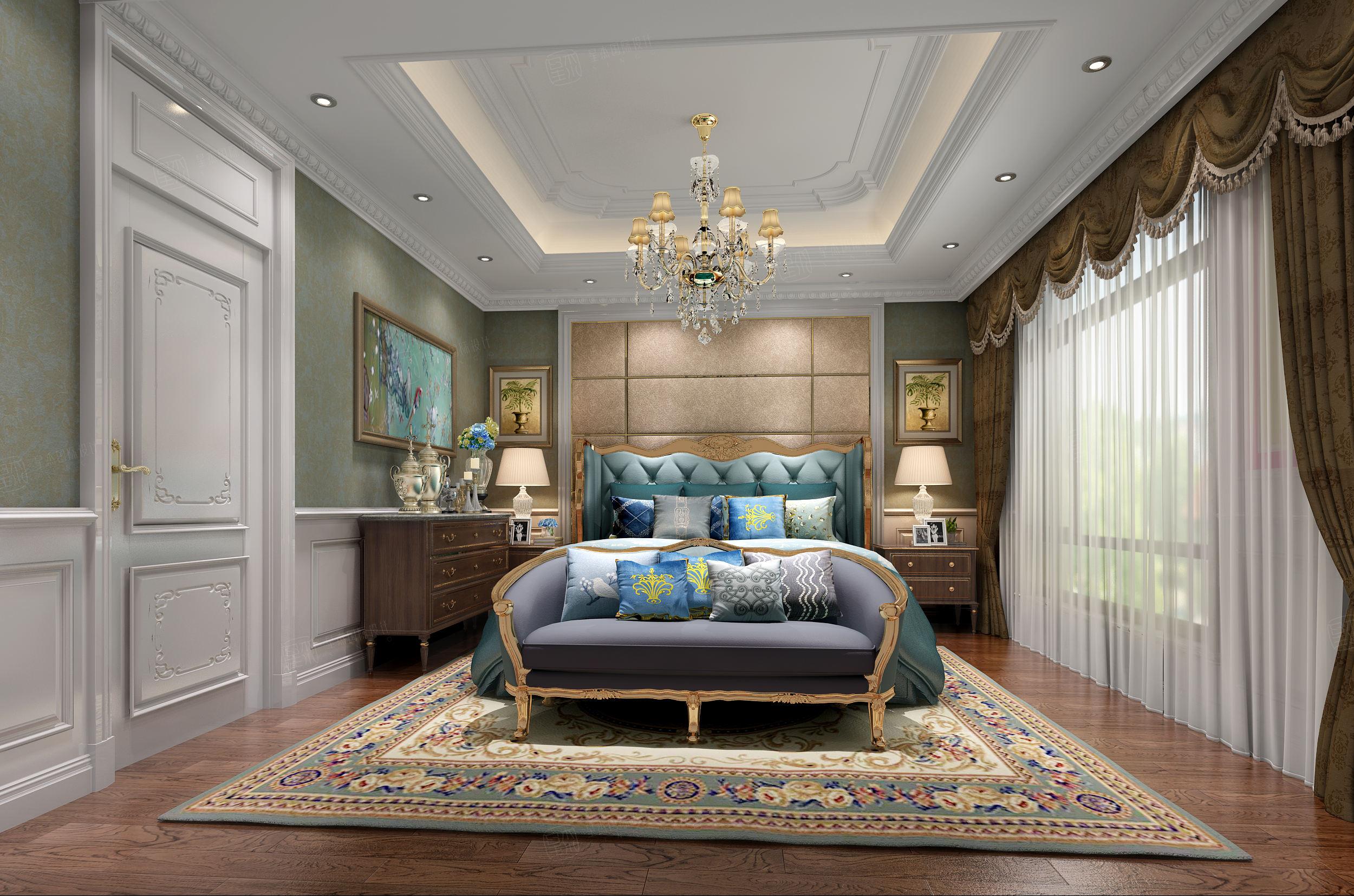 晴碧园_优雅、高贵装修沙发效果图
