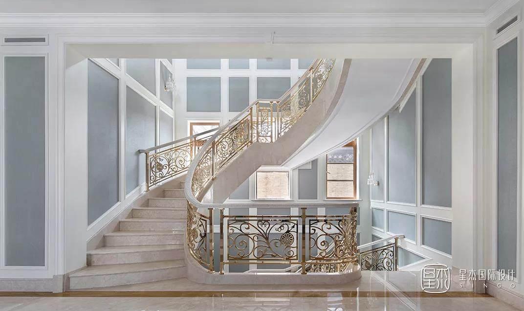 法式楼梯实景