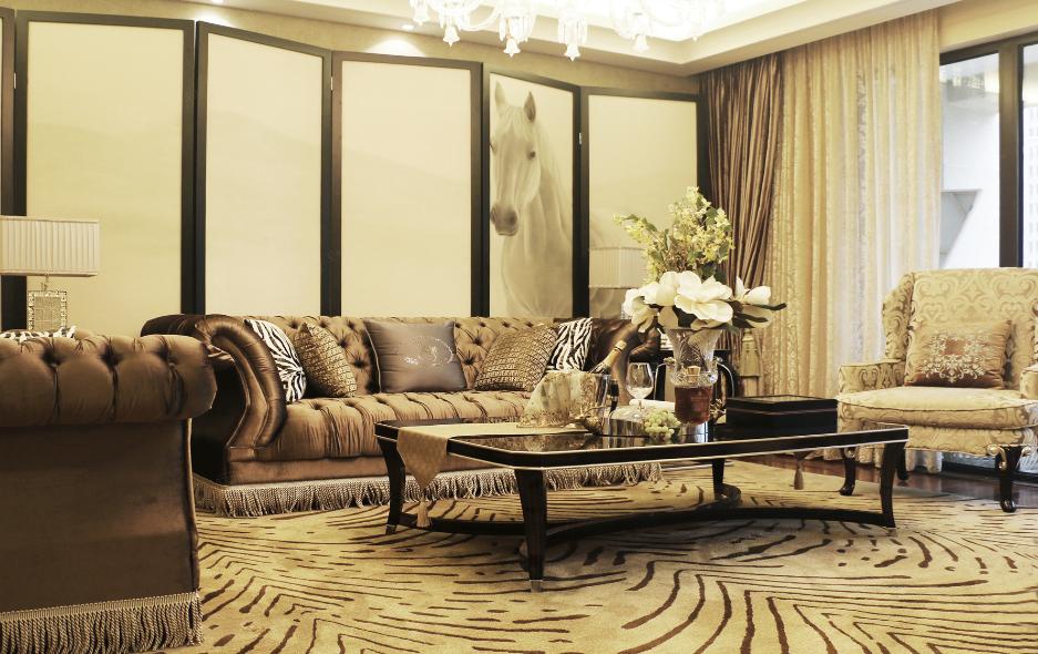 新古典裝修客廳效果圖