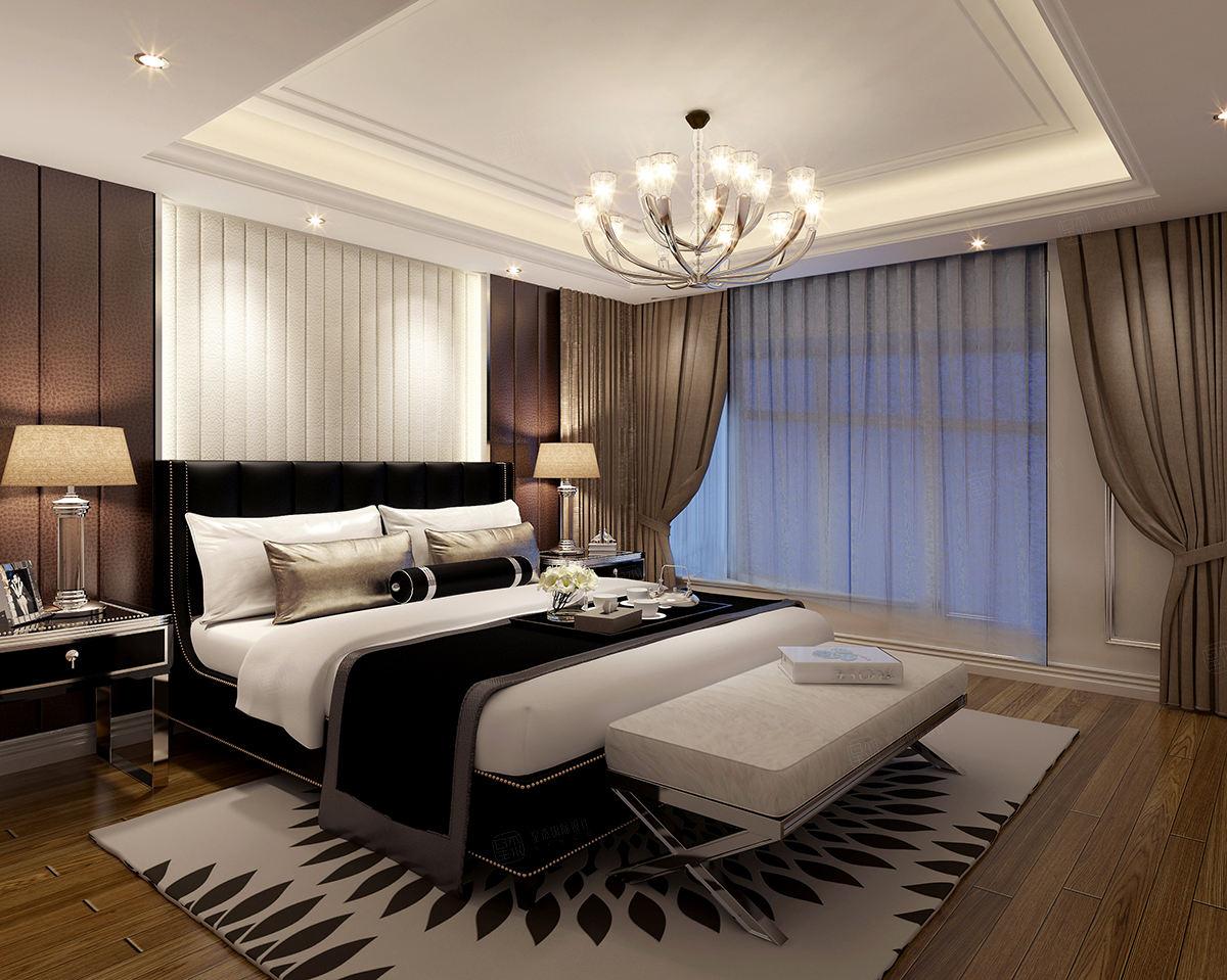 兰乔圣菲庄园 新古典装修卧室效果图
