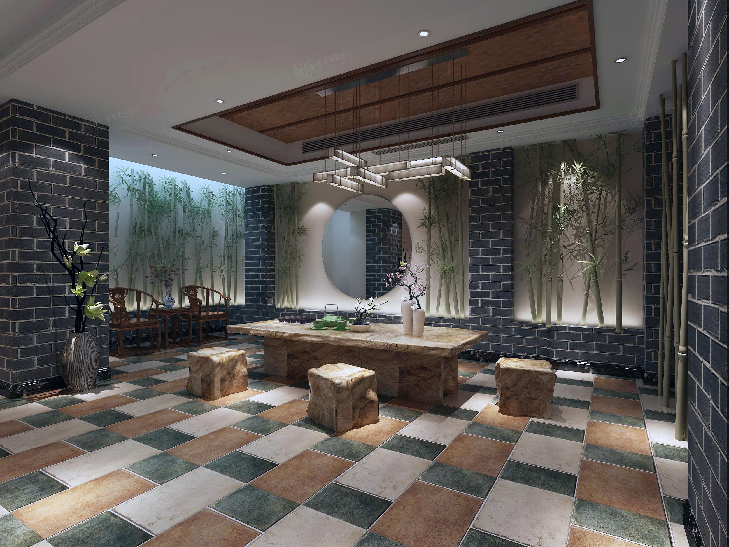 南山雨果 欧式装修茶室效果图