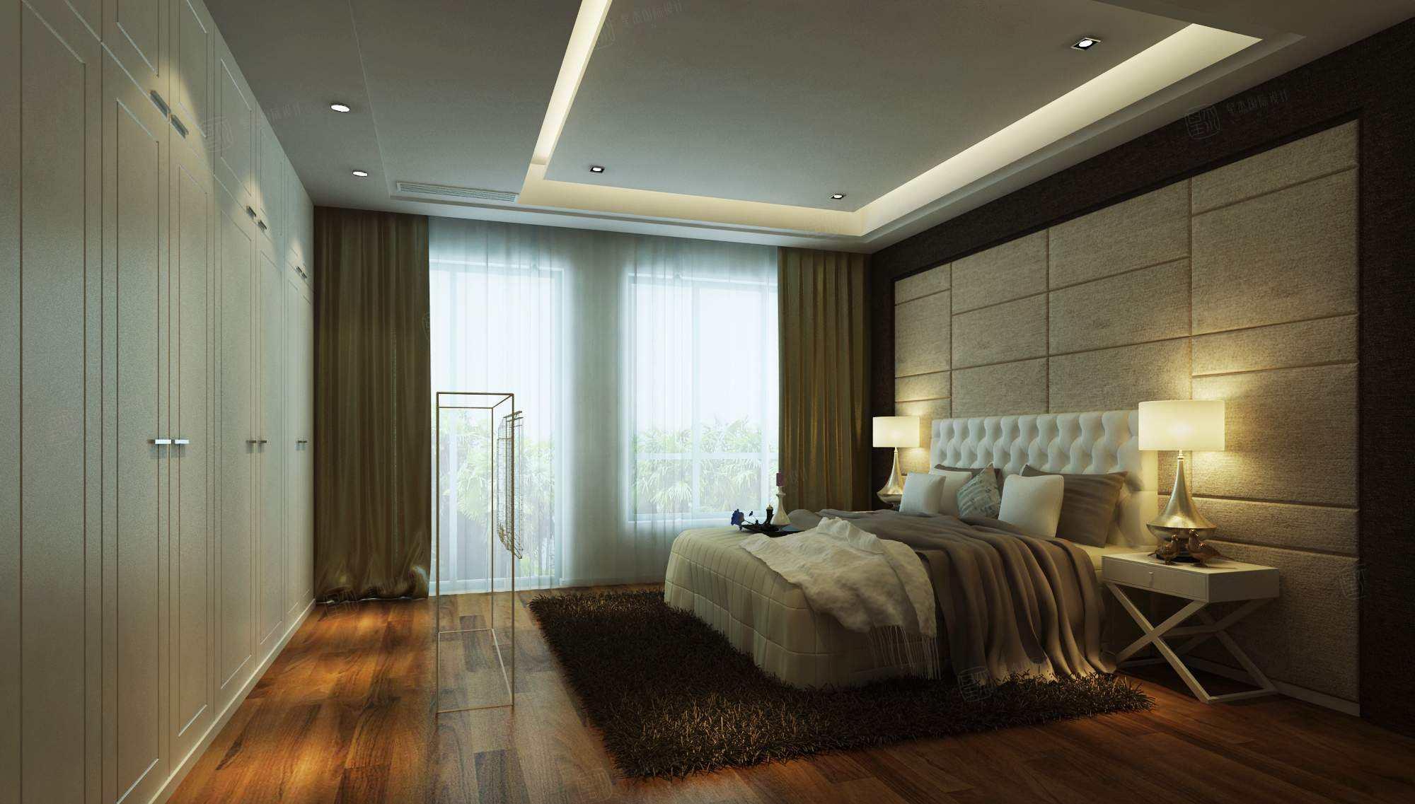 御沁园 现代装修卧室效果图