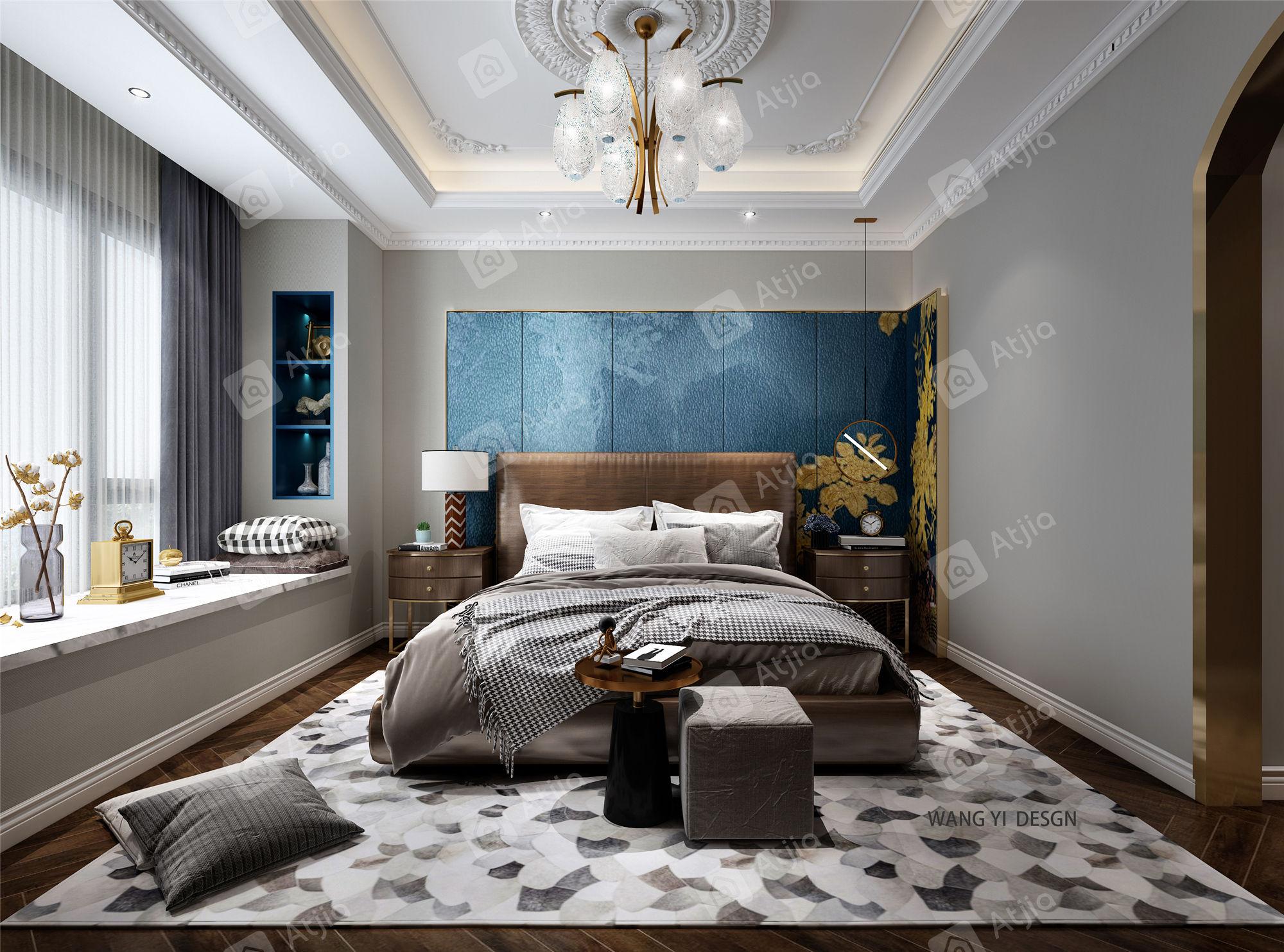 铂金时代 美式风格装修卧室效果图
