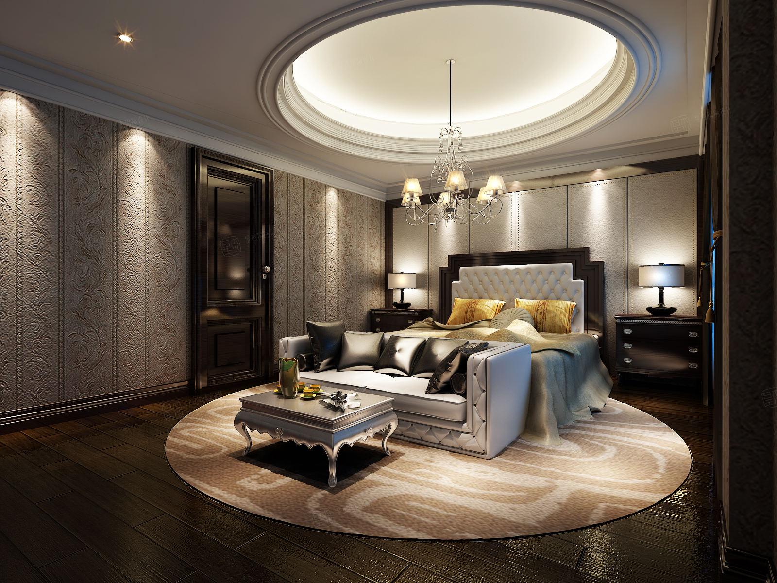 一品漫城 欧式新古典装修卧室效果图
