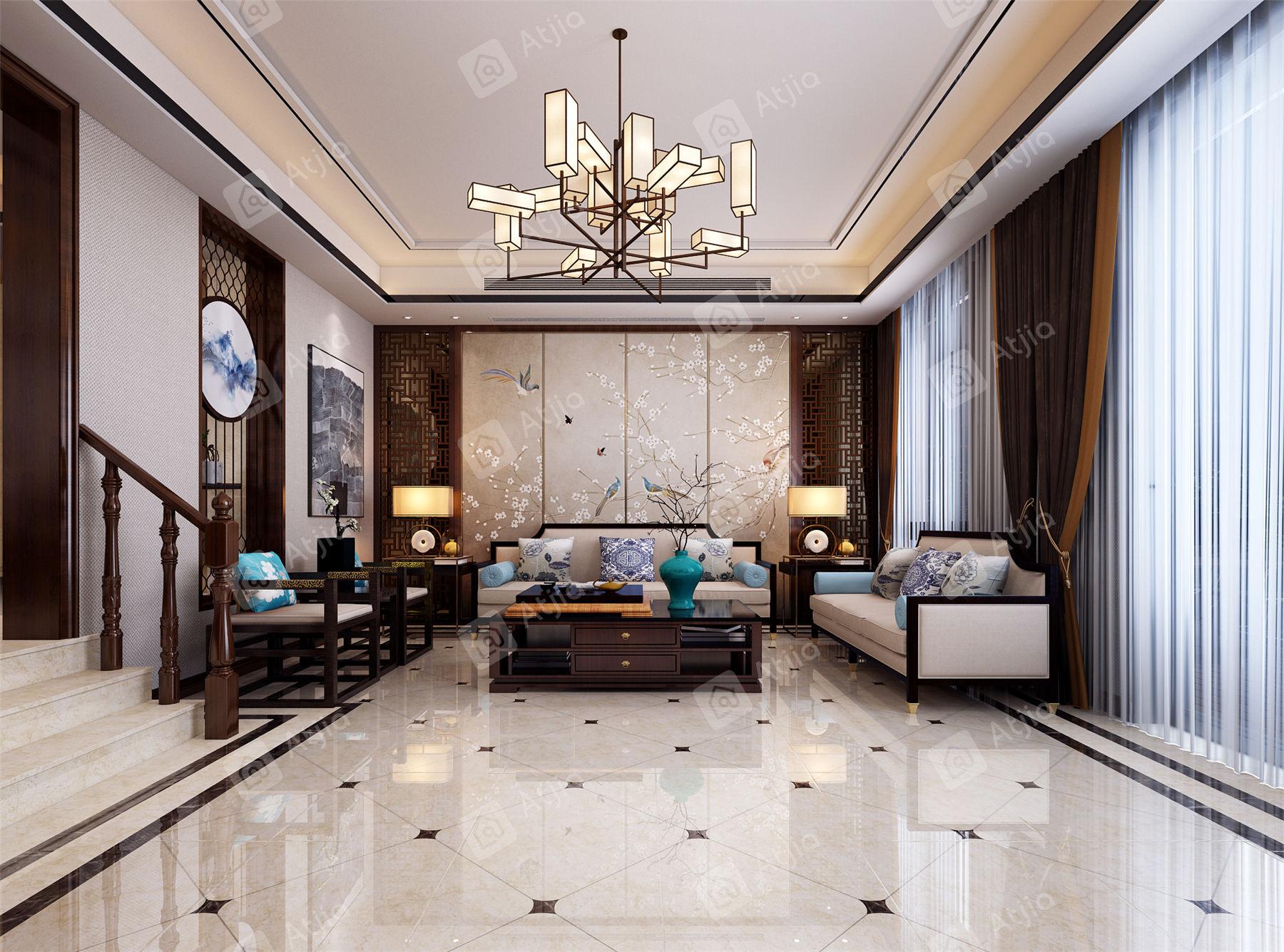 证大满庭芳 中式装修客厅效果图