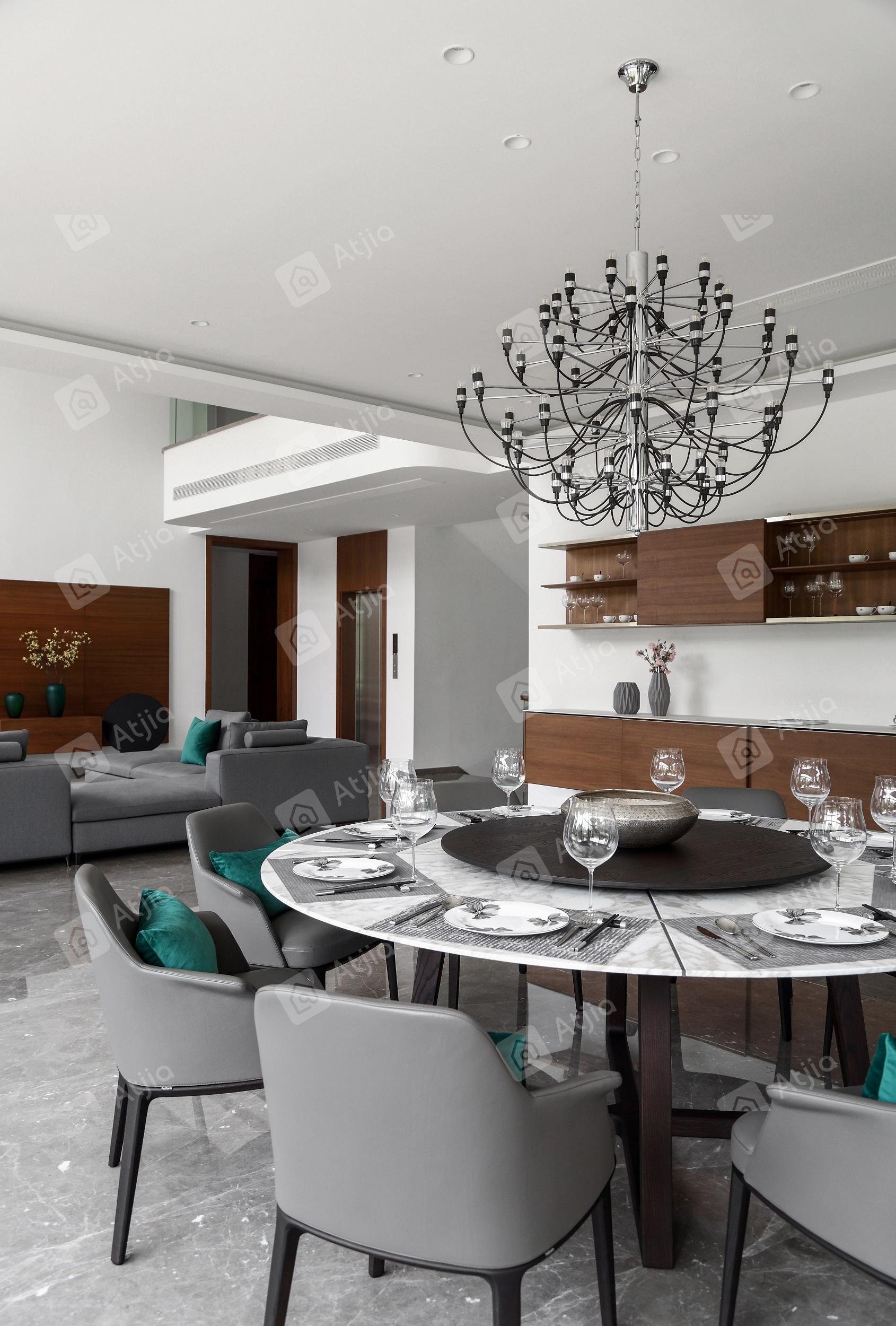 国宾一号——现代极简装修餐厅效果图