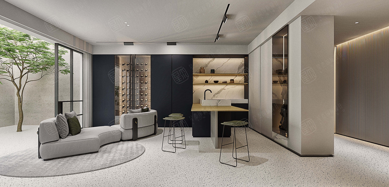 圣安德鲁斯  极简装修客厅效果图