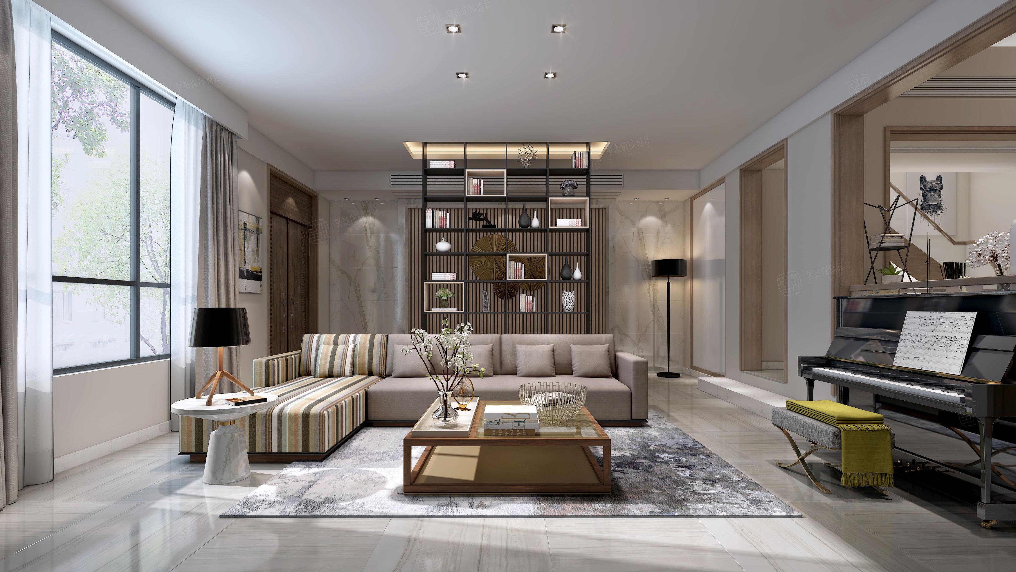 雅戈尔璞缇墅_以人为本的设计装修客厅效果图