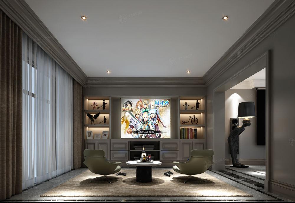 安墁西郊 现代简约装修休闲厅效果图