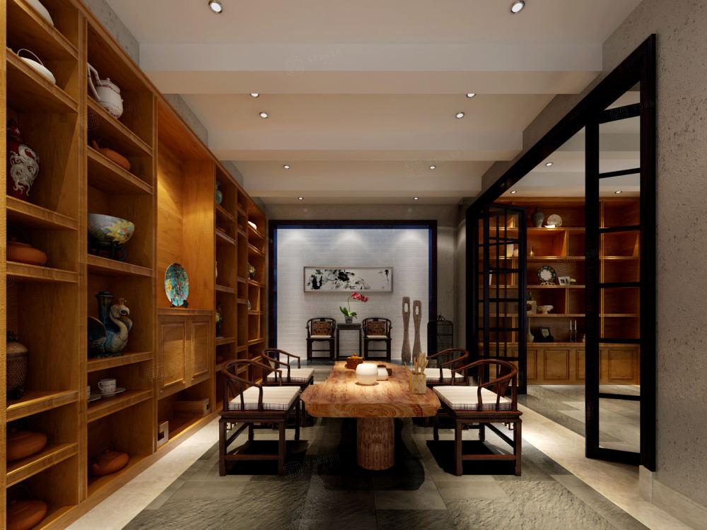 长岛花园 现代简约装修休闲厅效果图