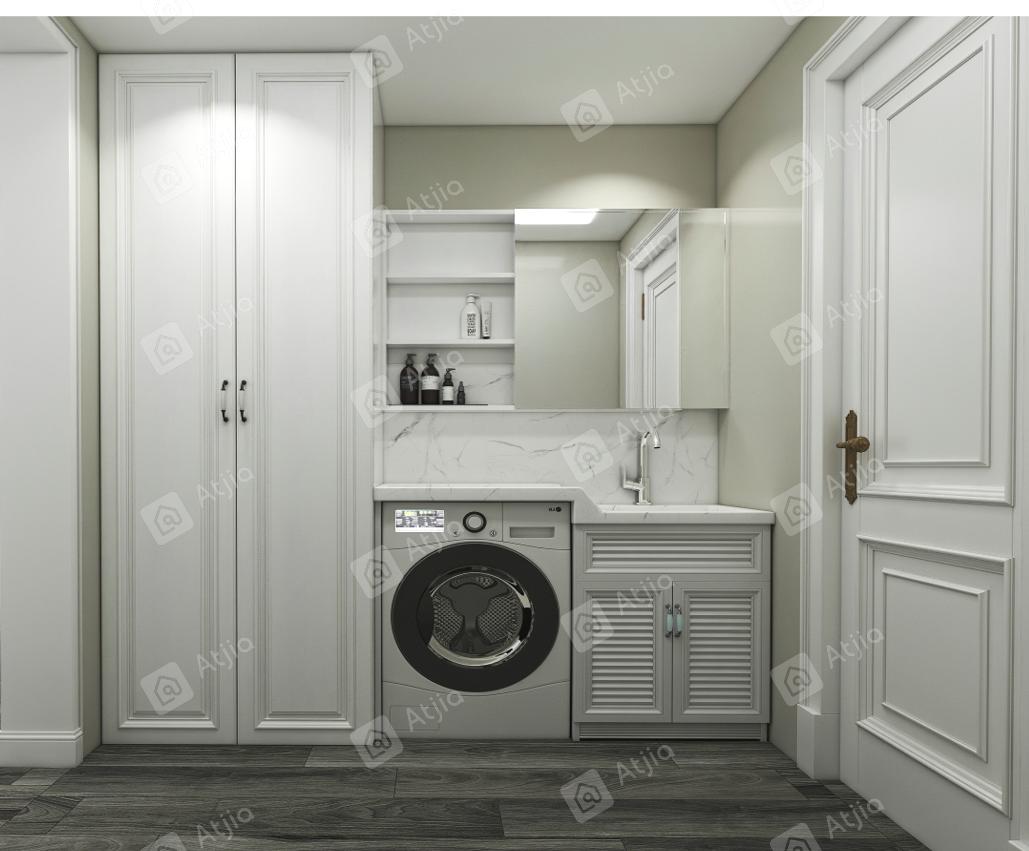 英伦上院 美式轻奢装修洗衣房效果图