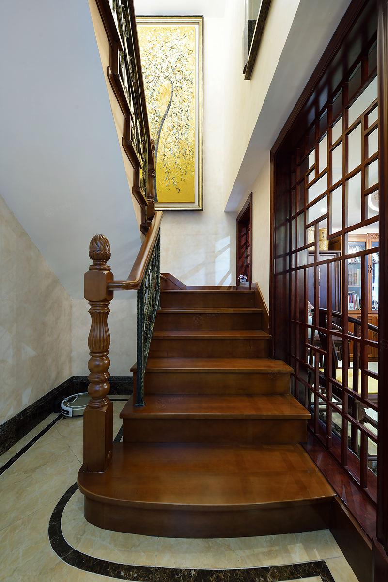 金地未未来 中式装修楼梯效果图