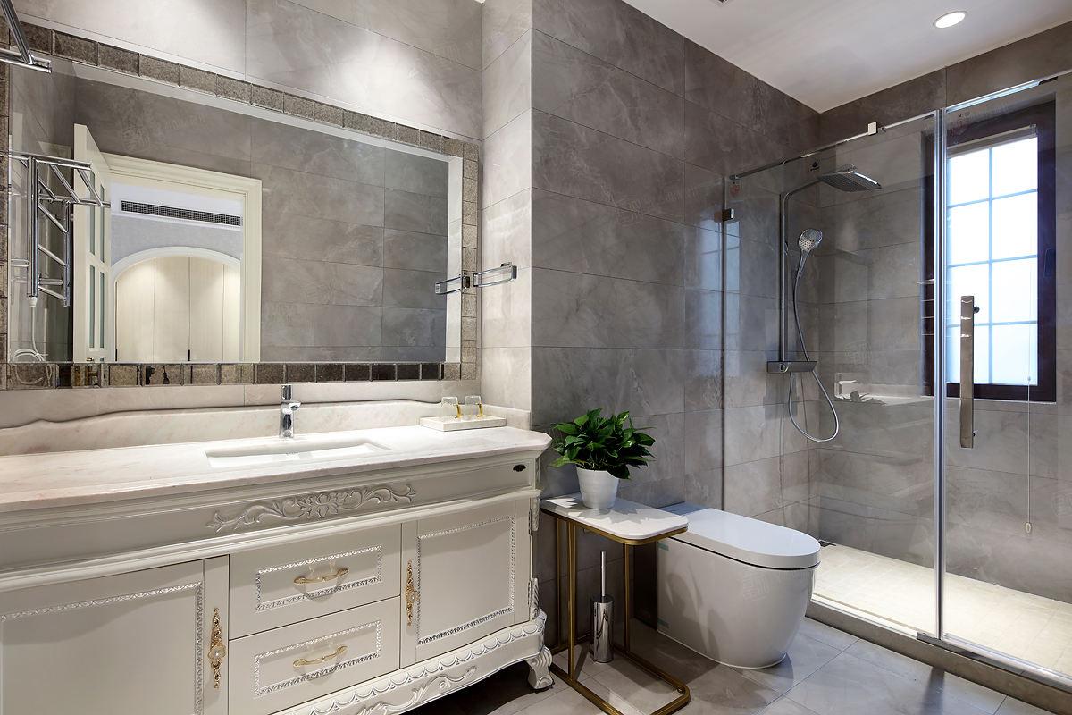 简美装修浴室效果图