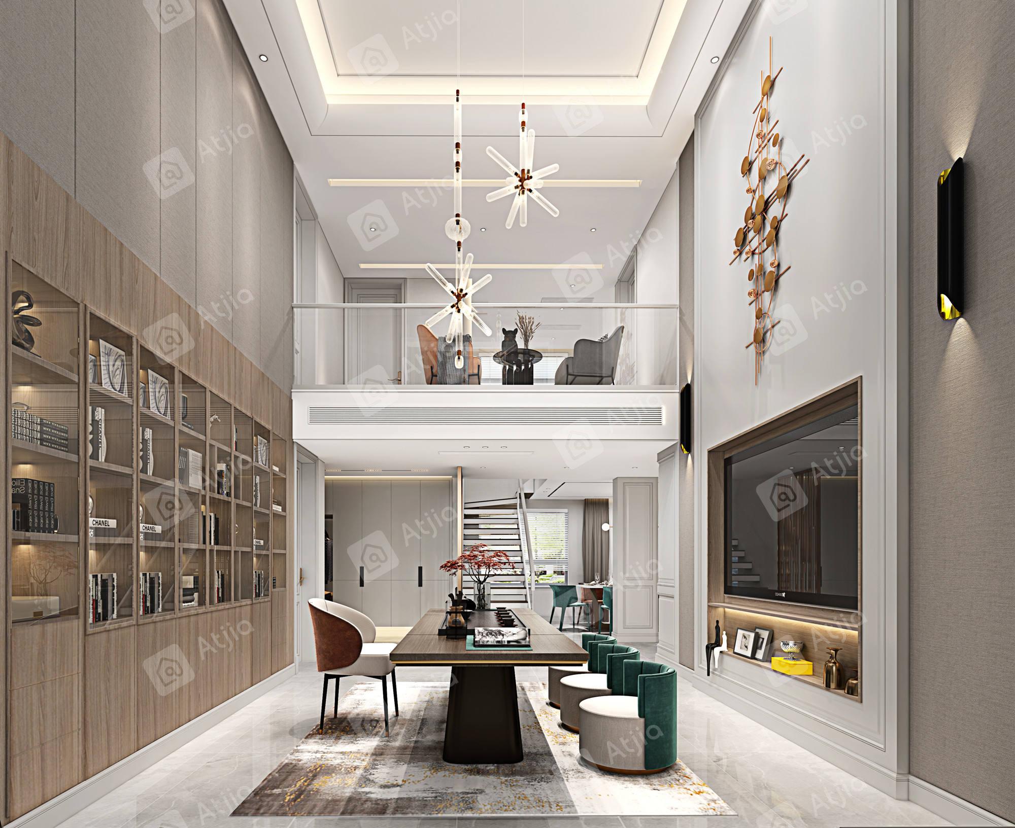 水清木华   现代装修客厅效果图