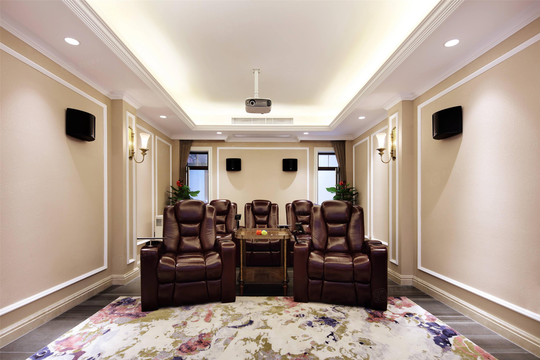 上实和墅   美式装修影音室效果图