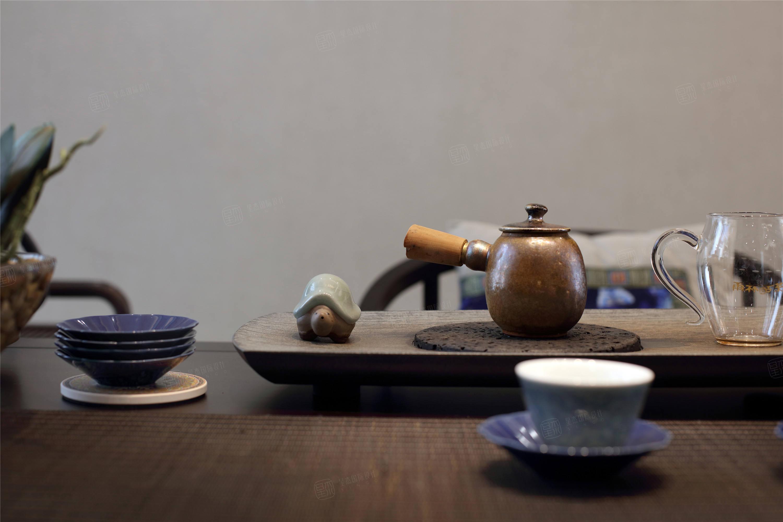 三湘森林海尚   新中式装修茶室效果图