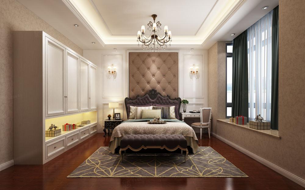 汤臣豪庭 欧式装修卧室效果图