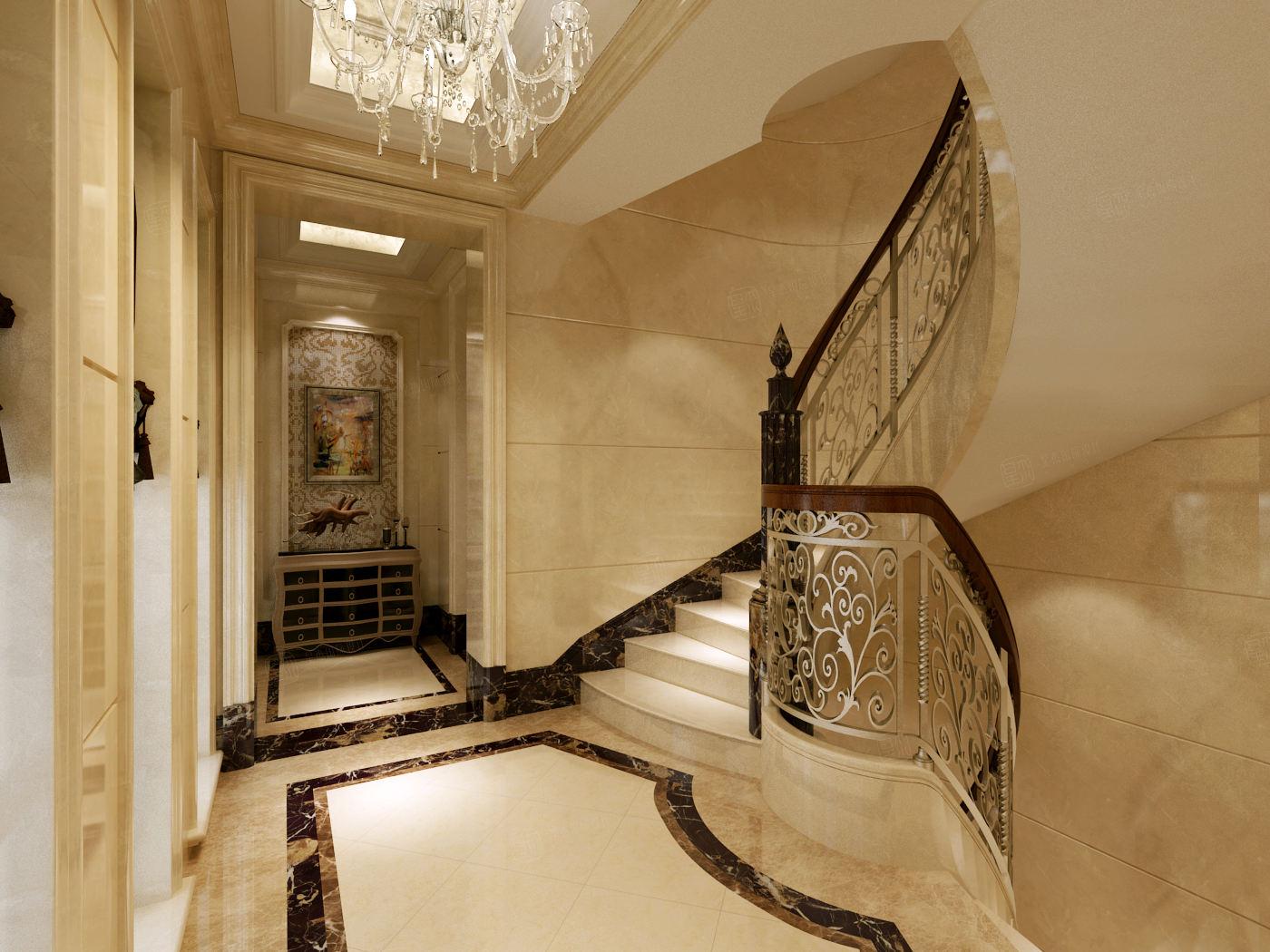 向东岛 欧式装修楼梯效果图