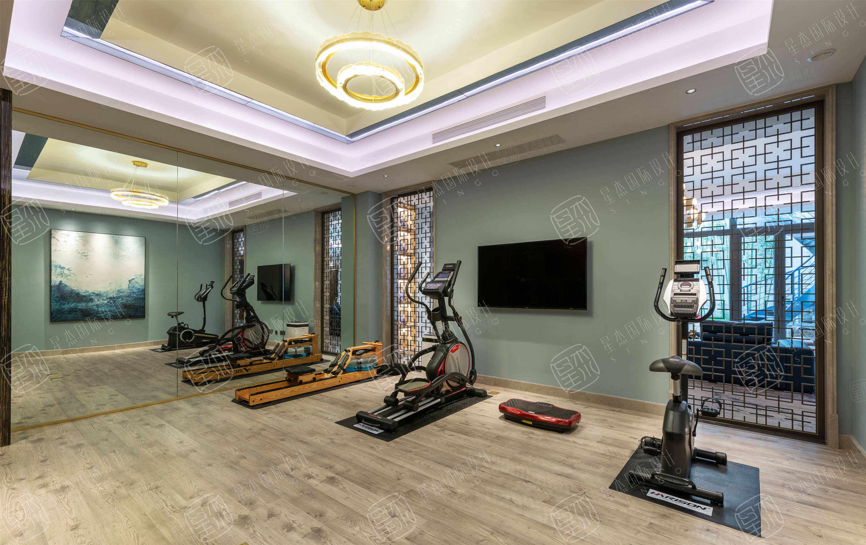 实景 绿城•玫瑰园   轻奢风装修健身房效果图