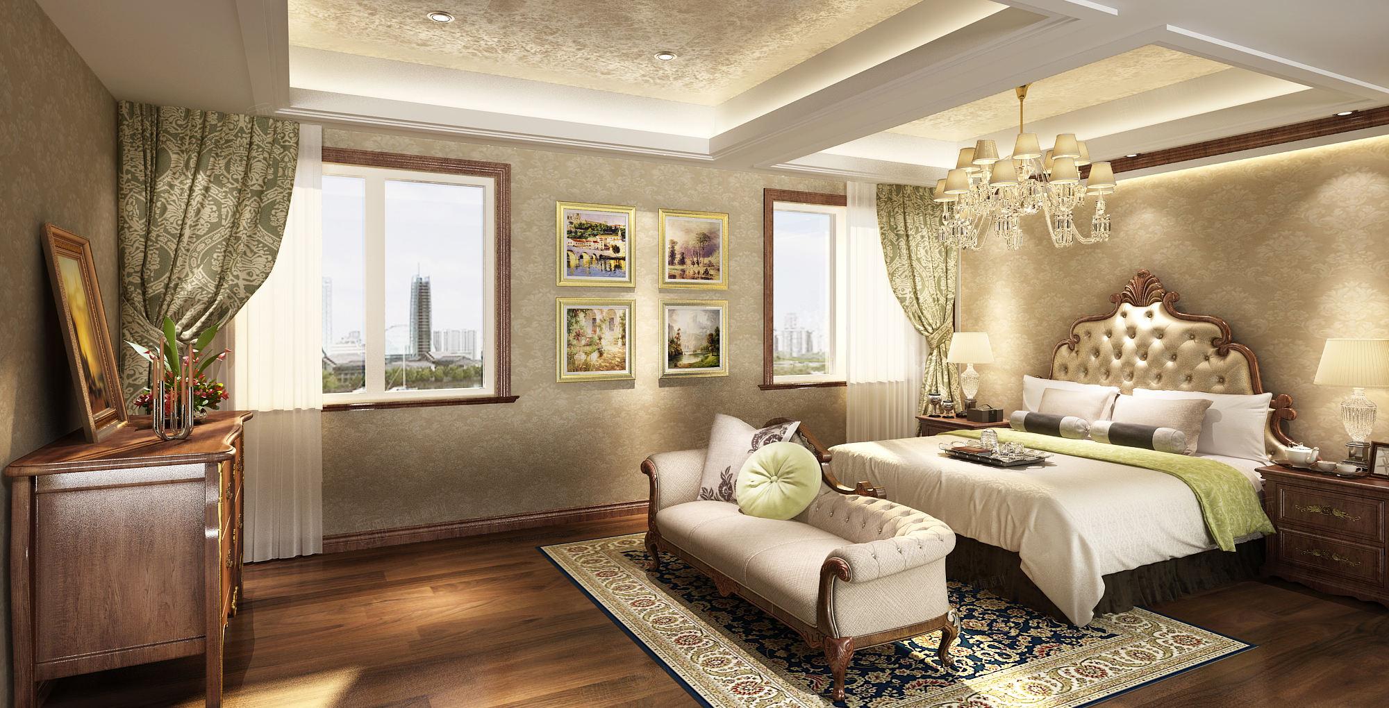 美式_天波城装修卧室效果图