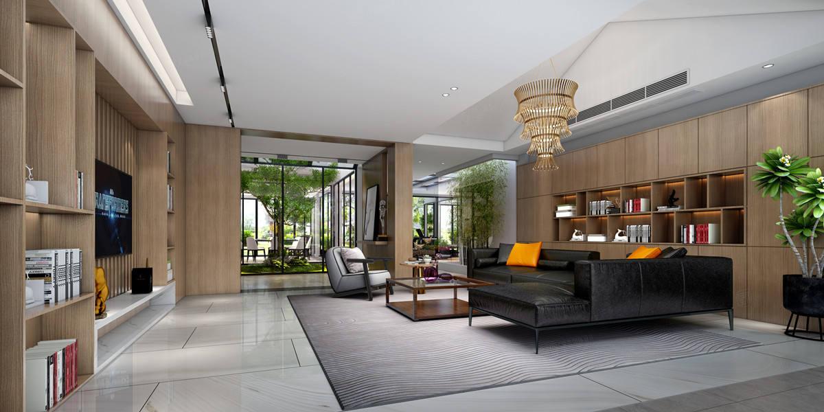 与自然的私语—和沁园装修客厅效果图