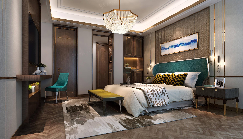 时代香格里拉  新中式装修卧室效果图
