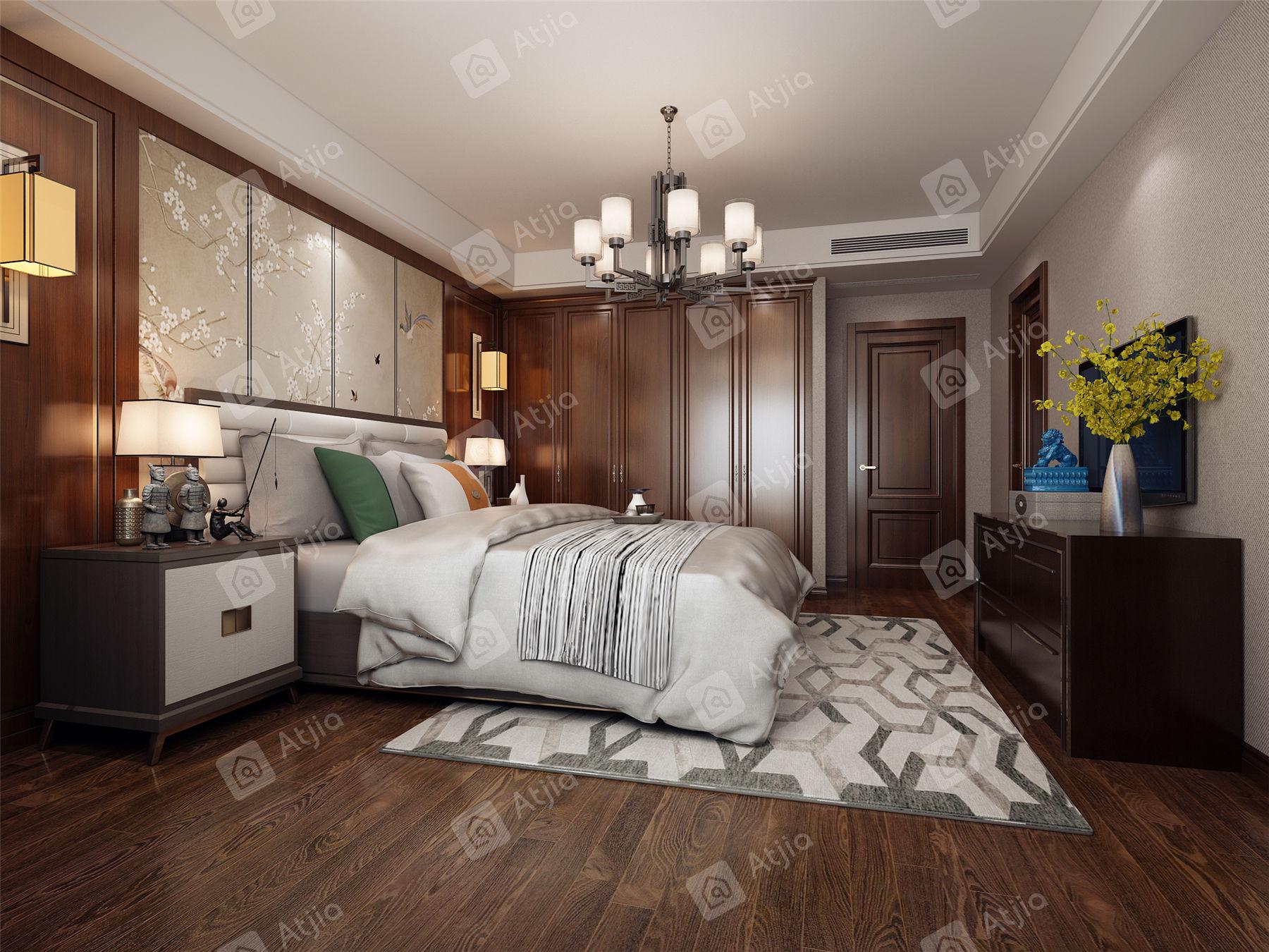 证大满庭芳 中式装修卧室效果图