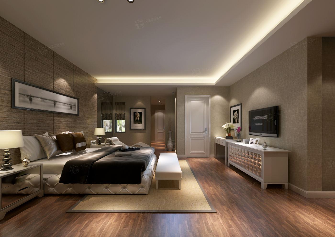 莫奈庄园 现代简约装修卧室效果图