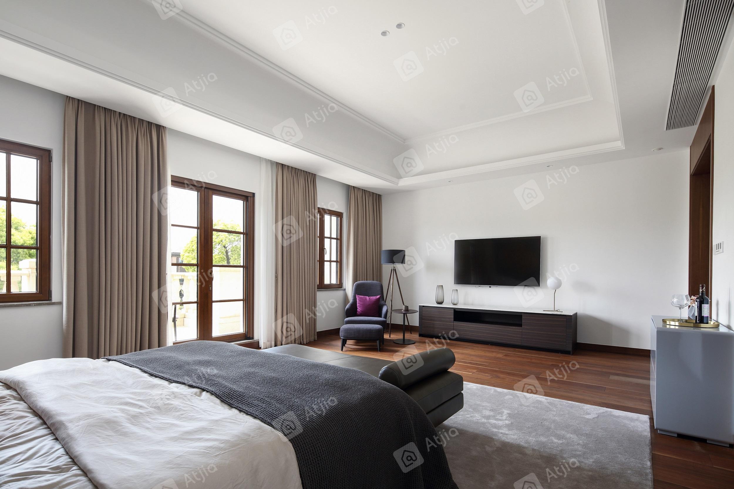 国宾一号——现代极简装修卧室效果图