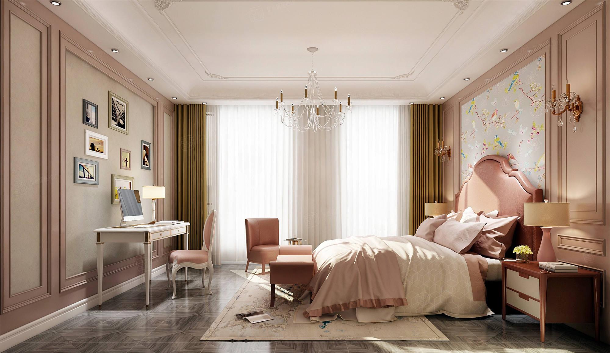 铂悦西郊  美式装修卧室效果图