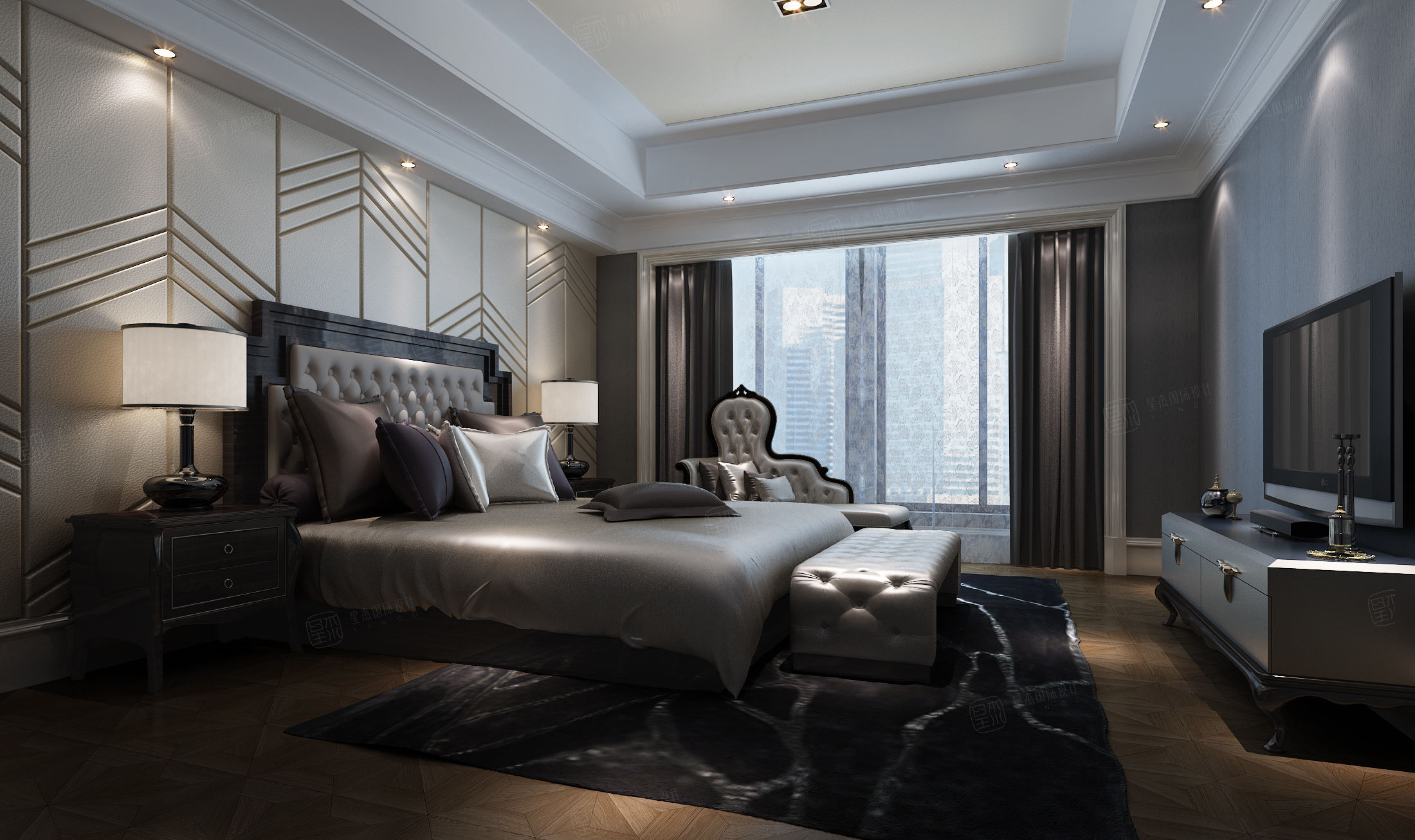 兰馨公寓 新装饰主义装修卧室效果图