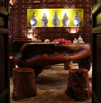中式装修茶室效果图