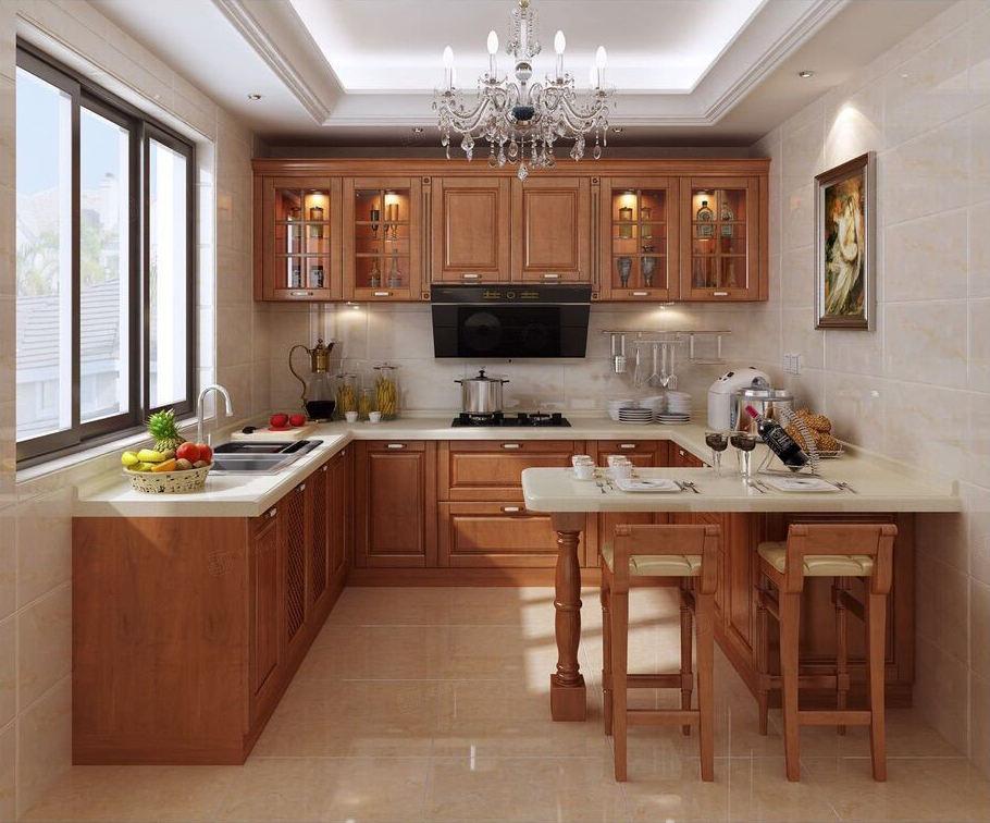 宁波案例库  望湖府邸  中式混搭装修厨房效果图