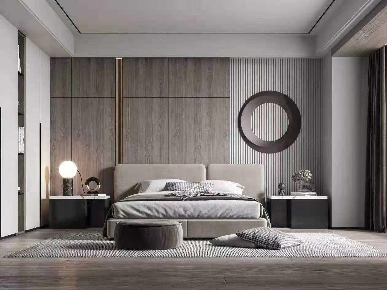 复地北桥城   现代轻奢装修卧室效果图