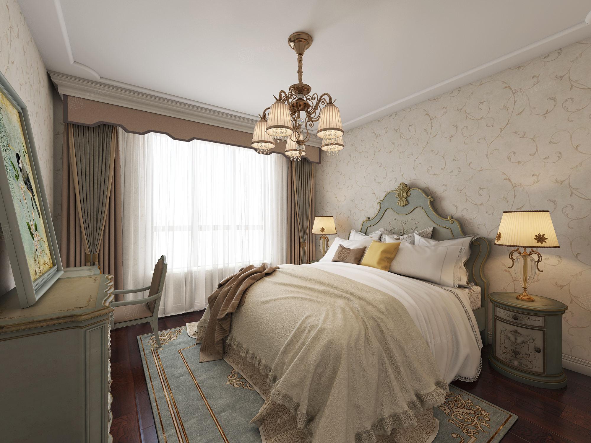 新古典装修卧室效果图