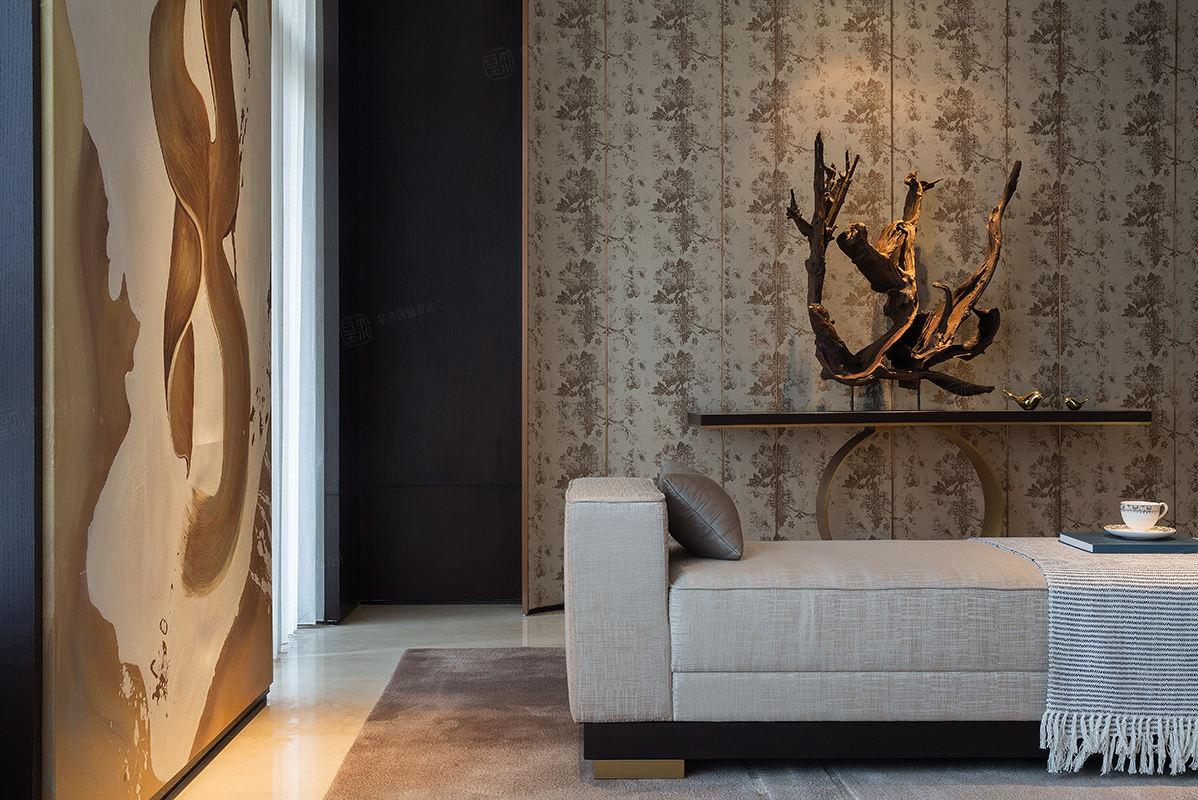 尚海郦景-现代轻奢装修客厅效果图