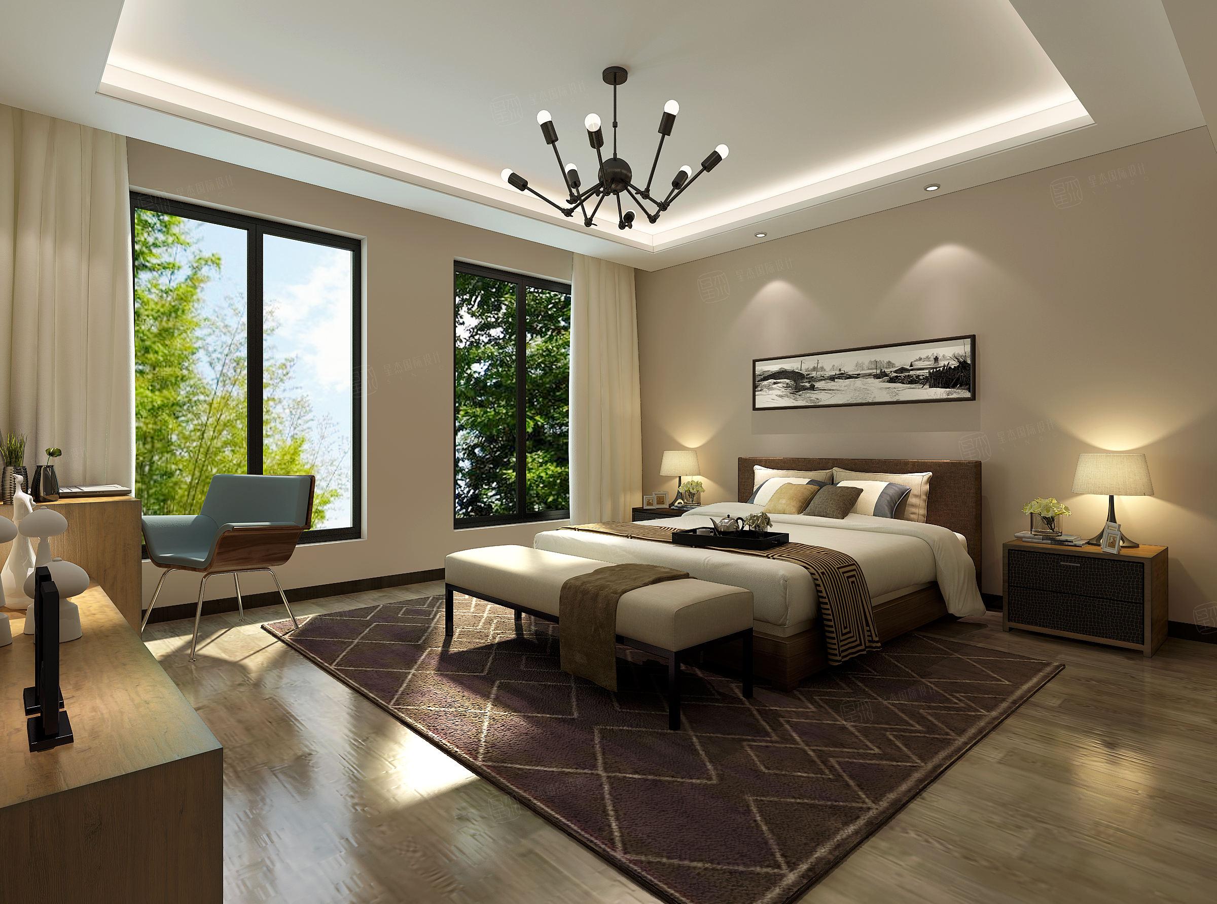 名士豪庭 现代简约装修卧室效果图
