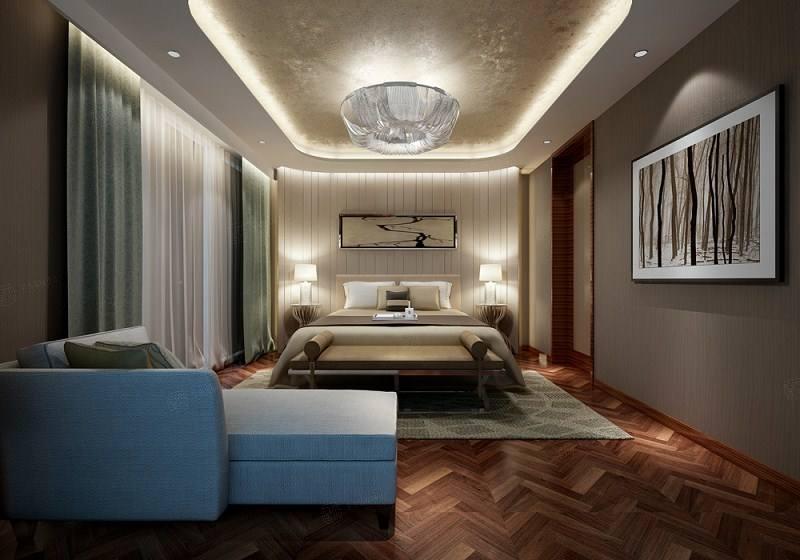 长城中环墅 现代简约装修卧室效果图