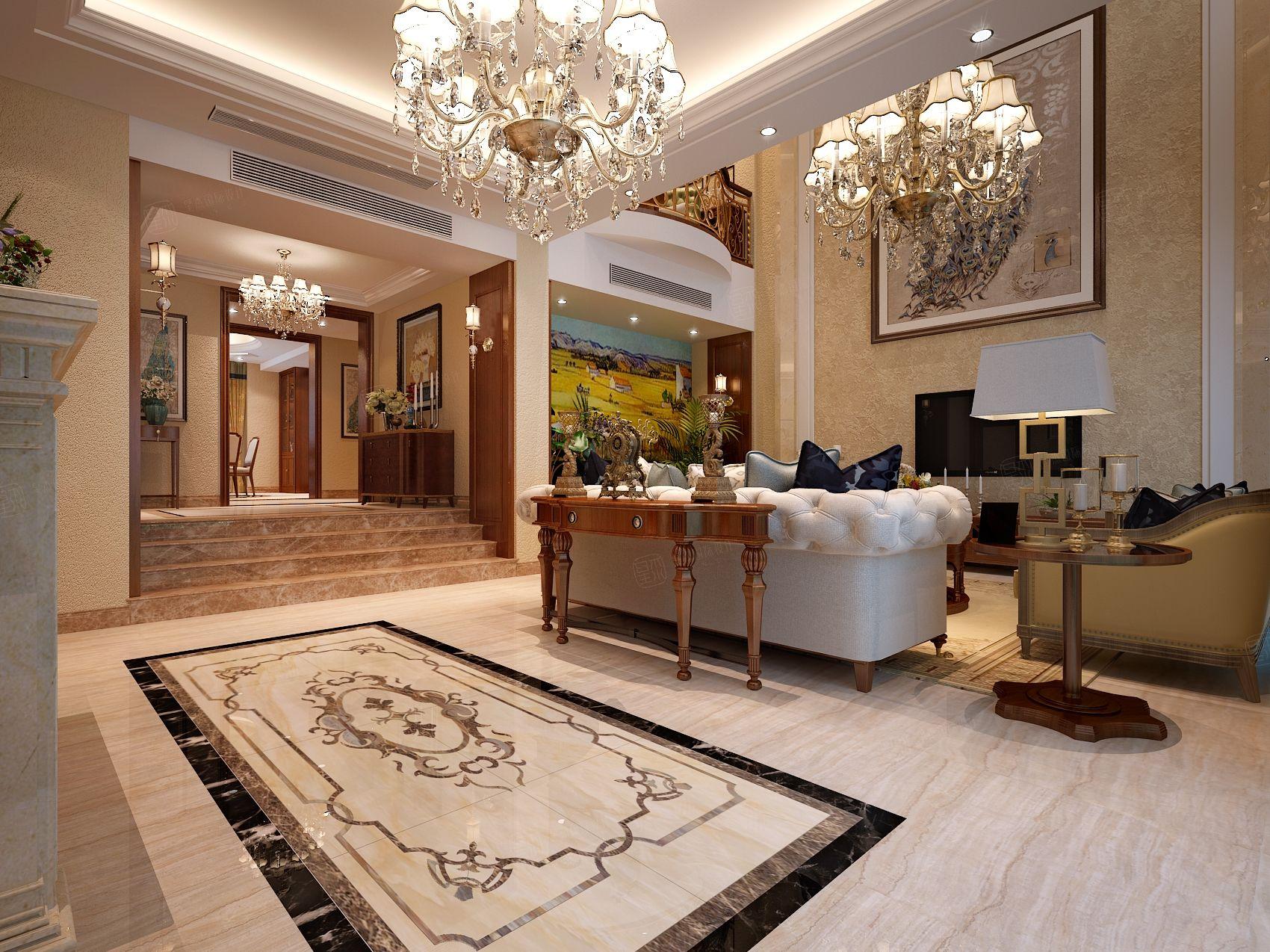 新古典_同城世家装修客厅效果图