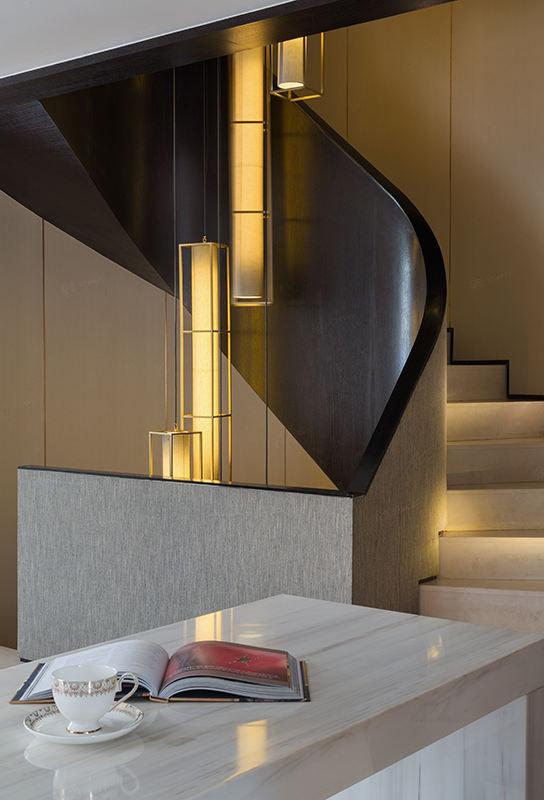 尚海郦景-现代轻奢装修楼梯效果图