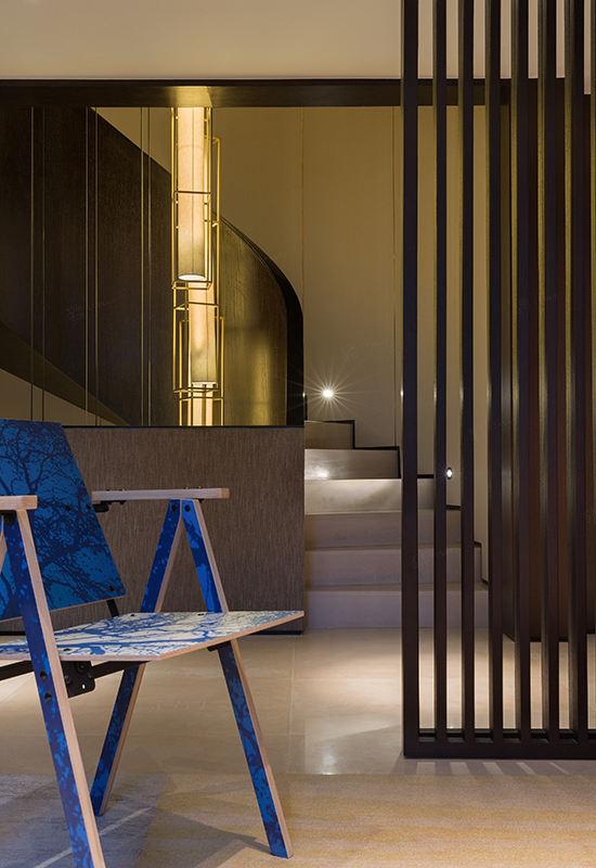 尚海郦景-现代轻奢装修休闲厅效果图